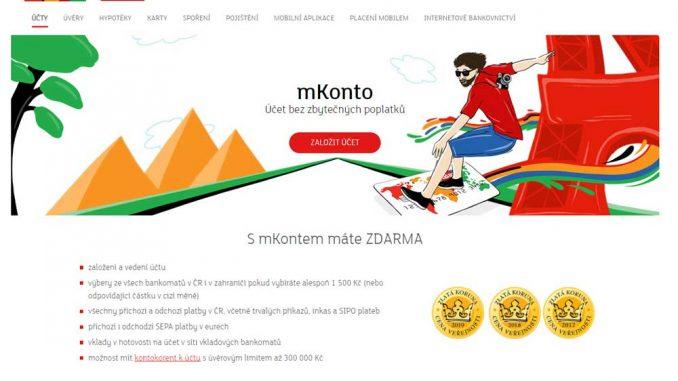 mKonto je účet bez zbytečných poplatků